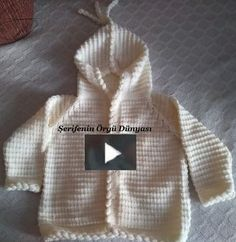 Full-narrated hooded baby cardigan with its numbers is a video narrative . - Ilkem Bozdemir Yetişkin - - Full-narrated hooded baby cardigan with its numbers is a video narrative . Toddler Cardigan, Knitted Baby Cardigan, Hooded Cardigan, Hooded Jacket, Knitting For Kids, Baby Knitting Patterns, Crochet Patterns, Bebe Baby, Baby Vest