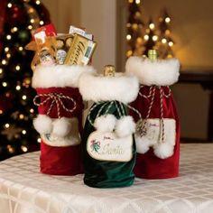Santa Gift Bags-Set of 3 Christmas Bags, Christmas Gnome, Disney Christmas, Christmas Projects, All Things Christmas, Winter Christmas, Holiday Crafts, Holiday Decor, Unique Christmas Decorations
