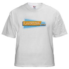 """Nice white """"FlavortownUSA"""" shirt to get Owner Autographs with :)"""