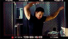 Gif - gag reels - They always loved to dance <-- Chris Evans wasn't dancing, he was trying to get the parachute on.