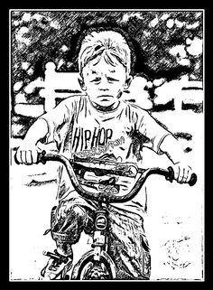 Quando percebeu que a irmã, sendo mais jovem aprendeu a andar de bicicletas, soube que já estava passando sua hora e por isso, aprendeu na mesma hora.