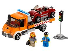 LEGO 60017 Flatbed Truck. I'm thinking I want this just because I have one of the garbage recycling trucks.