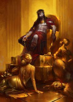 King Midas, Tatiana Vetrova on ArtStation at https://www.artstation.com/artwork/ZmErR