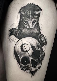 A little demonic just the way I like it I Tattoo, Cool Tattoos, Jenni, Just The Way, Tattoo Artists, Tatting, Husky, Tattoo Ideas, Skull