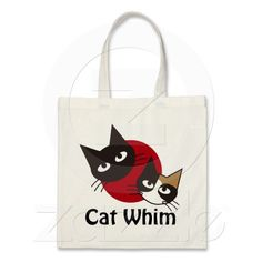 Cat Whim Canvas Bags $9.95