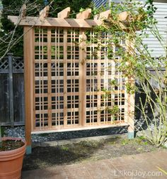 DIY garden trellis - would be great along the patio for privacy