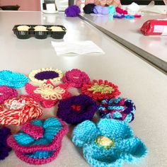 Woolly works in progress at todays PsAZZ get together!
