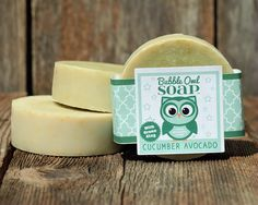 Cucumber Avocado Soap with French Green Clay by BubbleOwlSoap