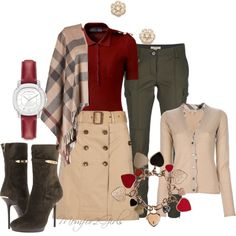 """""""Its a Burberry Day"""" by momfor2girls on Polyvore"""