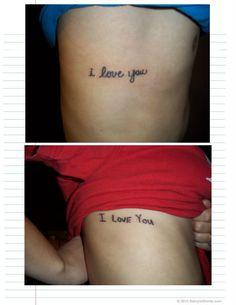 He got her handwriting, and she got his. <3