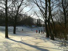 Winter in Berlin. Volkspark am Friedrichshain.