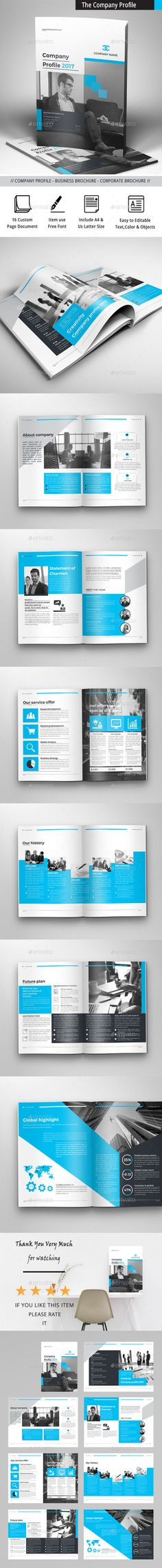 The Company Profile by obayes Brochure Description:The Company Profile Brochure Template that is super simple to edit and customize with your own details!Can b