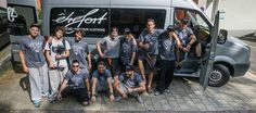The ETRE-FORT founders, athletes, special guest Bart van der Linden and overall winner of the video [. Special Guest, Comfort Zone, Athlete, Day