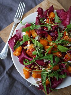 Butternut squash and goatscheese salad - White Trash Disease | Lily.fi