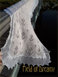Field of Dreams A shawl with nupps and beads and subtle lace. Designer: A Passion For Lace...
