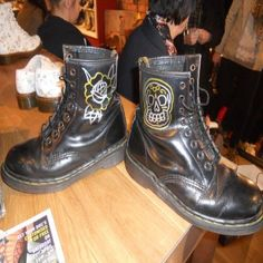 Dr Martens Liverpool One store customisation day with Stigma Tattoo picture gallery | Purple Revolver