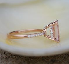 Dusty rose Engagement ring by Eidelprecious.