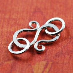 Handmade Sterling Silver S Hook Clasp with by FoothillsFindings, $3.75