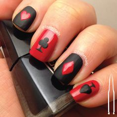 ncu – red & black | bulletnails