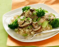Skinny Meals in Heels Recipe: Brown Rice Salad with Poached Chicken, Broccoli and Miso Dressing