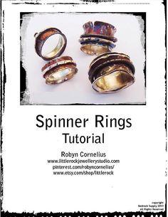 Spinner Ring Tutorial, Robyn Cornelius, Little Rock Jewellery Studio, via etsy