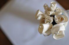 Fiori per capelli in mikado Favole di Seta sartoria Torino