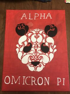 Alpha Omicron Pi canvas