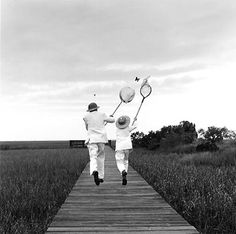 Rodney Smith_Gary and Henry Chasing Butterfly