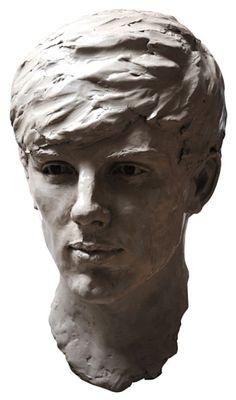 Clay Busts and Heads sculpture by artist Lancelot Little titled: 'Elliot' #sculpture #art