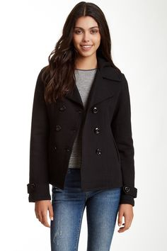 Sebby Double Breasted Hooded Fleece Jacket by Sebby on @nordstrom_rack
