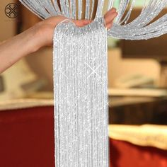 Buy Fashion String Sparkle Curtains Fly Screen Fringe Tassel Curtain Room Divider Door Window Decor at Wish - Shopping Made Fun Tassel Curtains, String Curtains, Curtain Room, Room Divider Curtain, Lined Curtains, Window Curtains, Ribbon Curtain, Crystal Curtains, Layered Curtains