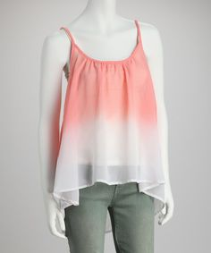 Take a look at this Pink Ombré Tank by Tramp on #zulily today!
