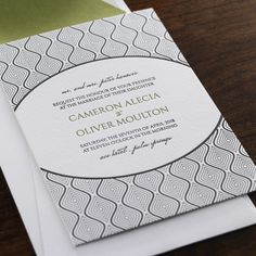 Scintilla Wedding Invitation by Checkerboard Ltd.