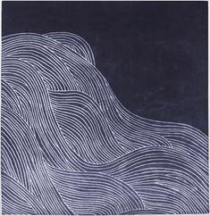 modernrugs.com Ocean Waves Doodle Blue Modern Rug