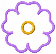 Flower Applique Patch Embroidery Design  by JEmbroiderynApplique, $2.00