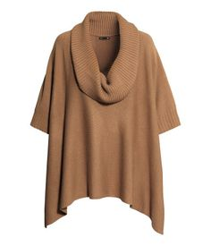 {h&m knit poncho in camel - $30}