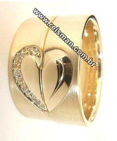 Alianças de Casamento Corações Wedding Rings