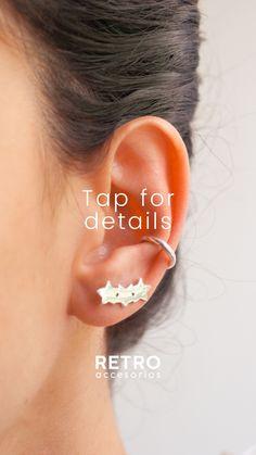 Combina tus aretes mini estrellas con el earcuff canolli, todos nuestros aretes son en plata no genera alergias Mini, Earrings, Jewelry, Fashion, Gold Plating, Allergies, Stars, Silver, Stud Earrings