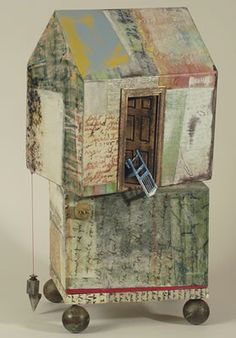 A Slip in Time & Place. Mixed media by Maurice Gray. See more here.