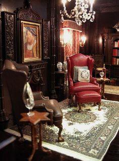 english gothic revival living room