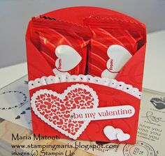 Maria's Stamping Station: Valentine's Day Treat Holder Video Tutorial