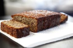 Almond flour banana bread - really moist and tasty! Did butter instead of coconut oil, and a little extra honey.