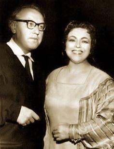 Martha Mödl with Wieland Wagner - Bayreuther Festspiele, 1958