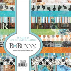 """Bo Bunny > Life In Color > Life In Color, 12 Designs/3 Each - BoBunny Single-Sided Paper Pad 6""""X6"""" 36/Pkg: A Cherry On Top"""
