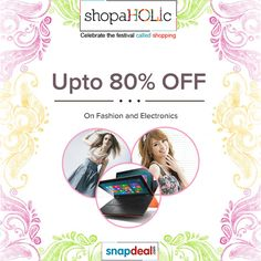 #Snapdeal #HoliOffer: Upto 80% OFF on Fashion & Electronics. Click on http://www.grabon.in/snapdeal-coupons/?gclid=4marfacebook to Grab this Exclusive deal.