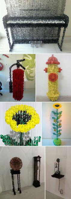 Augusto Esquivel: Button Sculptures