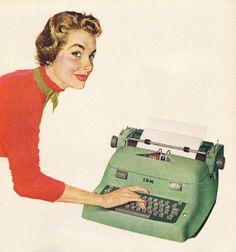 IBM Electric Typewriter advertisement, 1954