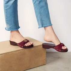 """132 Likes, 10 Comments - Dr. Scholl's Shoes (@drschollsshoes) on Instagram: """"The sandal of the season...this new berry wine Original sandal just hit the site, along with two…"""""""