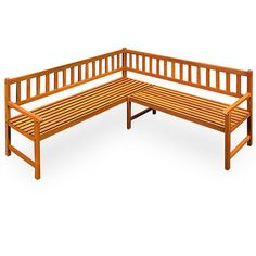 Corner seat wood garden bench wooden bench park bench garden furniture suite | eBay Just need to paint black and pop on seat pads and cushions