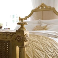 Browse our wide selection of high quality products from And So To Bed. Gold Furniture, Cane Furniture, Bedroom Bed, Bedrooms, Linen Bedding, Bed Linen, Luxury Bedding, Gold Leaf, Interior Design